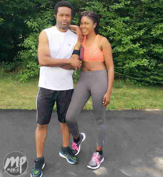Omoni Oboli Shares Workout Picture with her husband