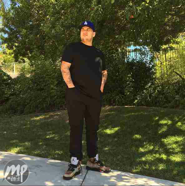 Expectant Father Rob Kardashian looking slimmer in new photo