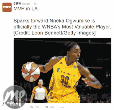 Nigeria's Nneka Ogwumike is Women NBA's Most Valuable Player 2016