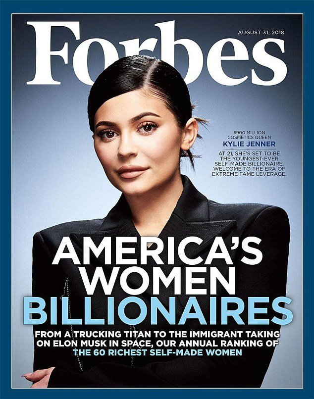 At 20, Kylie Jenner sets to Become Forbes' Youngest Self-Made Billionaire