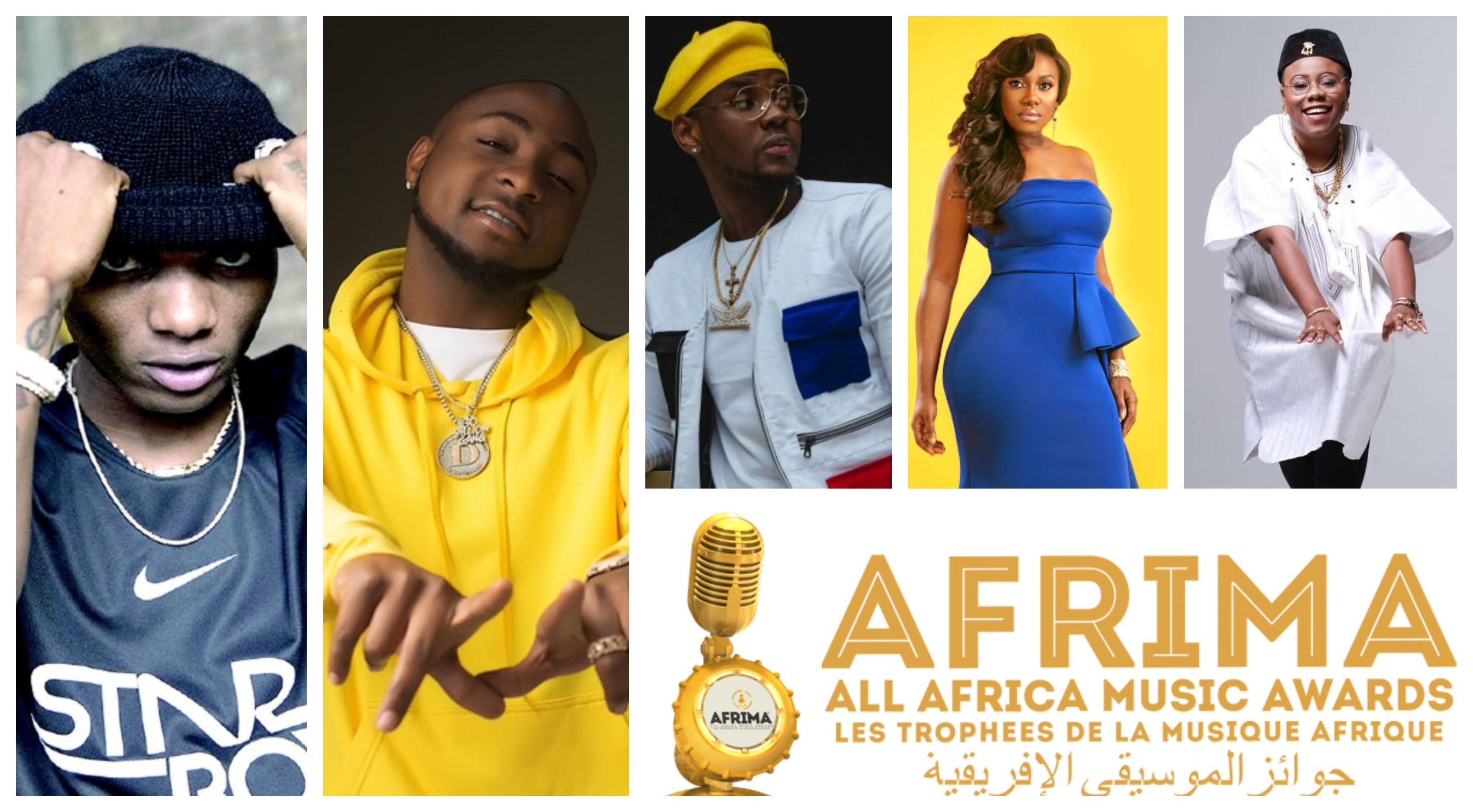 2019 AFRIMA: Wizkid, Davido, Kizz Daniel, Niniola, Teni